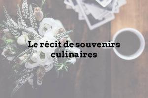 prestation recit souvenir culinaire livre de recettes familiales