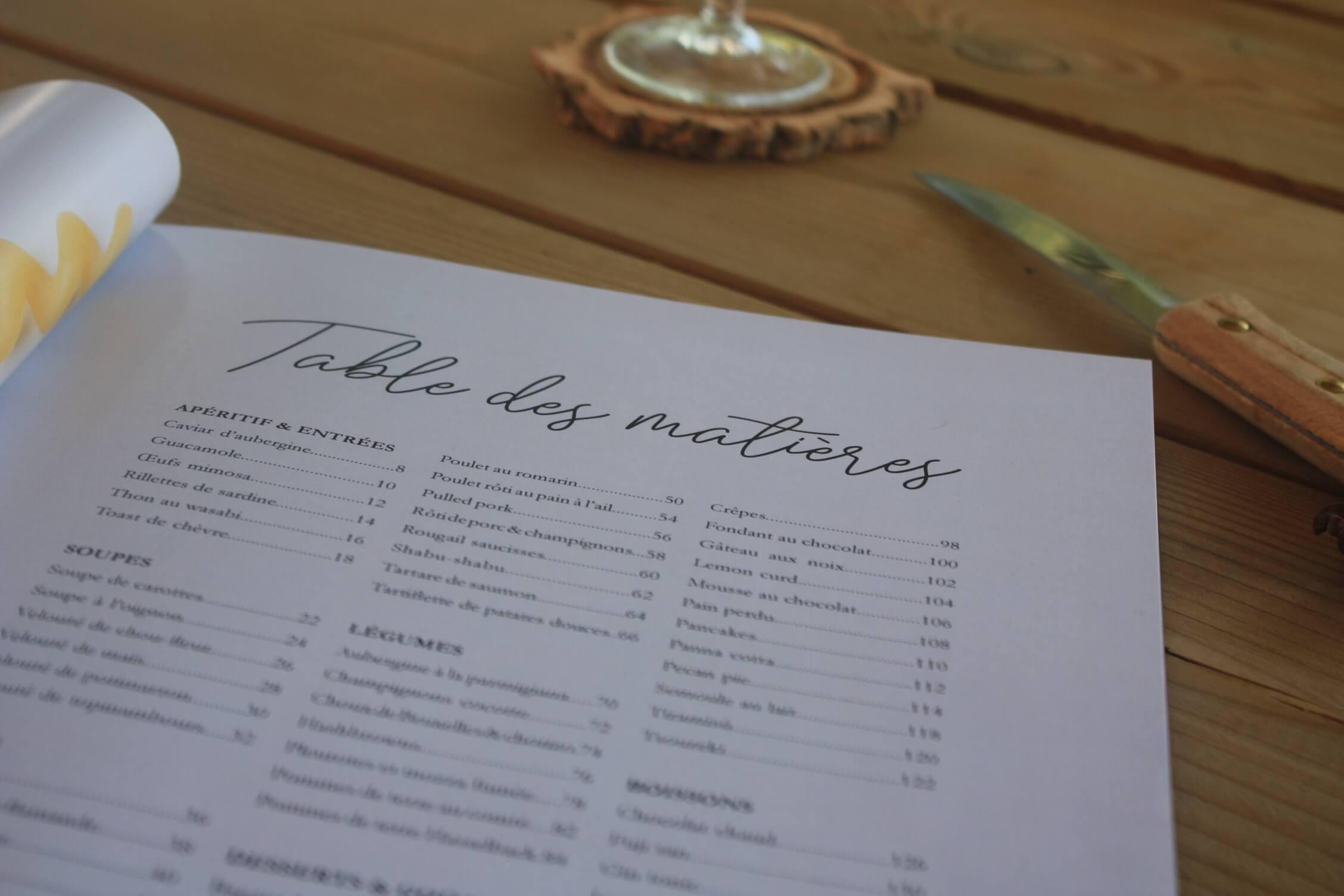 tables-des-matieres-livre-recette-personnalise