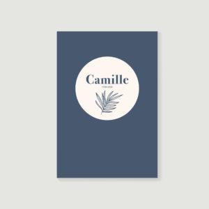 livre d'or de décès, carnet de souvenirs, biographie posthume style Camille