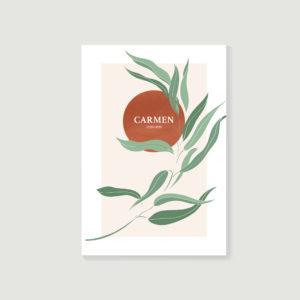 livre d'or de décès, carnet de souvenirs, biographie posthume style Carmen