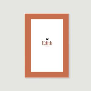 livre d'or de décès, carnet de souvenirs, biographie posthume style Edith