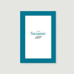 livre d'or de décès, carnet de souvenirs, biographie posthume style Suzanne